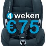4 weken autostoel (9-18 kg)