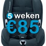 5 weken autostoel (9-18 kg)